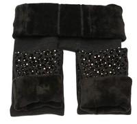 2014 New Arrival rhinestone women warm winter skinny stretch fleece tights drop shipping