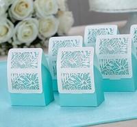 20pcs European blue theme wedding Candy Box Wedding Favor Box Gift Boxes Bridal Favors Free shipping wholesale