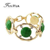 Female Bracelets for Christmas Gift Red Blue Green Bracelets and Bangles Gold Color Pulseras Mujer for Women
