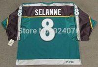 Ice Hockey Jerseys TEEMU SELANNE Anaheim #8 Mighty Ducks 1998 CCM Alternate For Sale