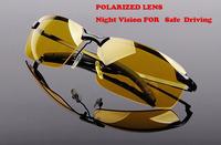 2014 News hot sale  night vision  Men anti-glare polarizer yellow Sunglasses for  driving oculos de sol 3043