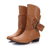 Free shipping Women Working Comfortable Boots 2014 New Shoes for Women Female Size Bigger Large 34-43