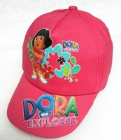 5pc/lot Hot sale Cartoon  Dora rose cap cotton hats  cap baseball cap  free size   JKC106-11