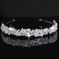 3PCS Silver Plated Crystal Wedding Bridal Headband Tiara Hair Band Prom