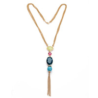 Famous Brand Gold Chain Tassel Pendant Necklace  2014 New Arrival Free Shipping