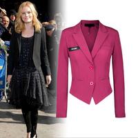 Korean small Slim thin short coat, women suits, woman jacket spring and autumn 2014, female white blazer woman, women blazers