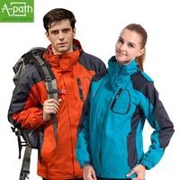 2014 winter man fleece waterproof camping mountaineering hiking hunting clothes ski suit jacket men Women polartec windstopper