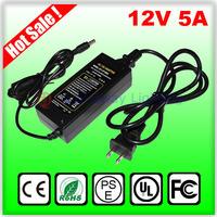 12V 5A 60W DC 5.5mm x 2.5mm Led Power Adapter for 5050/3528 SMD LED strip Light or LCD Monitor or CCTV camera