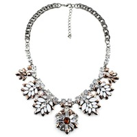 2014 Z  wholesale fashion statement  necklace & pendant Europe costume chunky crystal choker collar bib pendant Necklace jewelry