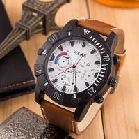 High Quality WEITE Brand Men Watches Quartz Watch  Pu Leather Strap Military Watches Wristwatches AW-SB-1073