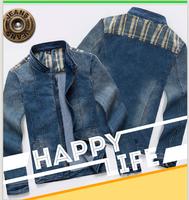 New Men's denim  jacket for menFashion motorcycle jeans short jacket do old jeans denim coat free shipping
