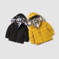2014 new France catimini autumn winter children boys outerwear down jacket coat fashion sport casual two sides wear 4-10T brand