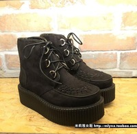 Winter 2014 new soft boots Ayumi sister force y tide brand thick soled boots