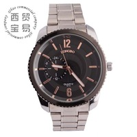 wholesale 2014 fashion business stainless watch compass Men's Quartz waterproof full steel Military watch band wristwatch8715