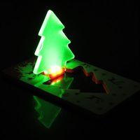 Portable Christmas Tree Green LED Light (Folding Pocket Credit Card Wallet Sized) ZS01080