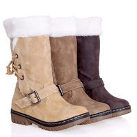 ENMAYER 2014 Free shipping autumn and winter retro fashion snow boots warm cotton boots leg winter boots women
