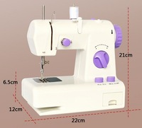 High Quality Portable Multi-function Electric Sewing Machine Sew forward or Back Use AC Power Adapter Free Shipping
