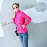 2014 Women's winter parka down fur coat brand parkas slim short parkas duck down coat jackets womens 12 colors XXXL