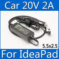 Laptop Car Charger 20V 2A 40W Power Adapter For lenovo ideapad S12 S9 S10C M10 U10 G475 G465 U165 U260 U110