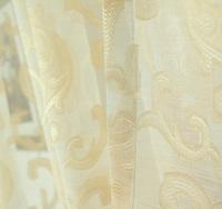 100cm*270cm Jacquard linen tulle sheer curtains beige window screen for living room home decor