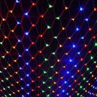 1.5*1.5M Multi Color LED Net Mesh Light Xmas Party Wedding Garden String Lights ZWQ10110