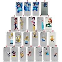 Custom OEM Plastic Clear Logo Case For Iphone 6 4.7'' Frozen Elsa Olaf Snow White The Little Mermaid  Case For Iphone 6 plus 5.5