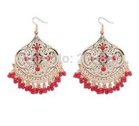 New Fashion Bohemia Flower Earrings Handmade Tassel Earrings Cross Earrings for Woman