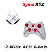 High Quality Original Syma X12 Nano 6-Axis 2.4G 4CH RC Mini Quadcopter Black/Red/White Color VS CX-10