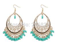 New Fashion Bohemia Waterdrop Earrings Handmade Tassel Earrings Flower Earrings for Woman