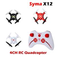 Hot Sale New Syma X12 Nano 6-Axis 2.4G 4CH RC Mini Quadcopter Drone Toys VS CX10 RC Quadcopter
