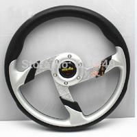 Latest MOMO steering wheel modified imitation competitive racing - Energizer 13-inch PU steering wheel change