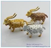 2014 hot sale alloy  animal  sheep shape trinket box