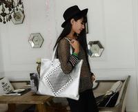 Hotsale Promotion new 2014 winter fashion nubuck leather women handbag rivet messenger bags handbags vintage bucket shoulder bag