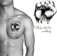Fist Muscle Men Decoration Waterproof Temporary Tattoo Stickers Body Art Tattoo