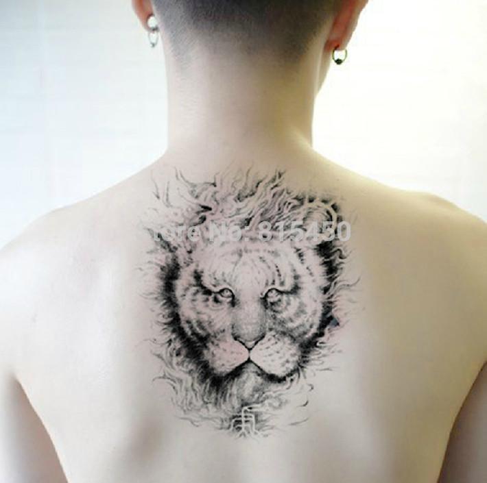 Temporary Animal Tattoo Men 3D Lion Stickers Environmental Body Art Tattoo Body Graphics Shoulder Decoration(China (Mainland))