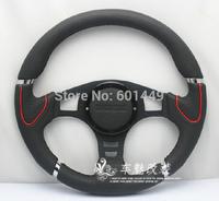 Leather racing steering wheel -64-- modified MOMO Racing Wheel-14 inch / 35 cm