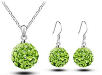 Free Shipping Fashion Crystal Jewelry Set for Women