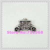 Antique Cinderella Carriage Floating Charms Princess Locket Charm For Memory Glass Locket Accessories