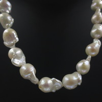 free shipping AA+ 11-12-13mm big Baroque freshwater pearl necklace S77#