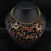 Wholesale Brand Jewelry Perfume women fashion Colar Bijoux Pendant Vintage Exaggerate Collar Necklace statement Choker Necklace