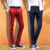 Freeshipping !! 2014 new fashion men's casual trousers outdoor male fit slim cotton pant  more color(BK0009)