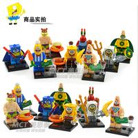 SpongeBob Square Pants Minifigures SY177 480 Pcs/lot DIY Building Blocks