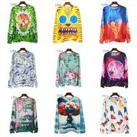 [Alice] 2014 newest style 3d sweashirts double side printing flowers/skull/cartoon thin fashion sweatshirt women hoodies ly01-21