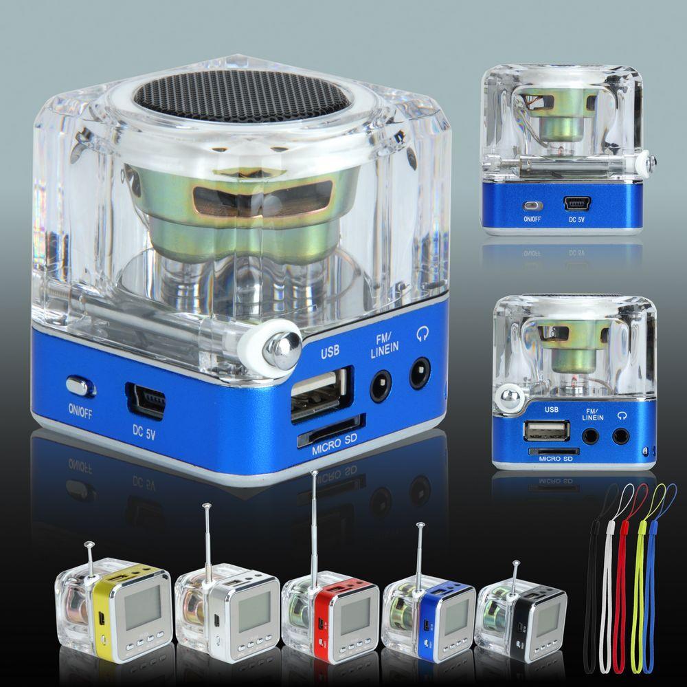 5 Colors Digital Portable Mini Speaker Music MP3/4 Player Micro SD USB Disk Speaker FM Radio LCD Display XDA0860(China (Mainland))