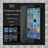 "DHL 100pcs/lot Protective Film for iPhone 6 4.7"" 2.5D 0.3mm Premium Tempered Glass Screen Protector Without Retail Package"