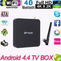 TV Media Player Wifi with remote control RK3288 Android Smart Bluetooth 4.0 TV Box GPU 2G 8G 3D Movie Set Top Box HDMI XBMC