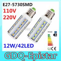 1pcs Super bright 12W 42LED 5730 SMD E27 E14 B22 Corn Bulb Light Maize Lamp LED Light Bulb Lamp LED Lighting Warm/Cool White