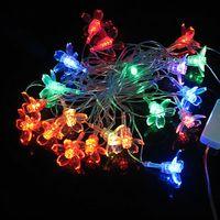 5M 20 LED Flowers Shape String Lamp Crystal Festival Christmas Decoration 220V ZWQ10138