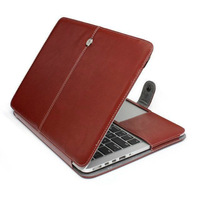 Free shipping Utral slim Fashion PU Leather cover bag with hasp Case for Macbook Air 13 inch 300pcs/lot