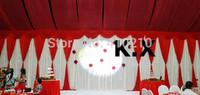 Big Size 3M*8M Wedding Backdrop Curtain Wedding Drape Decoration Free Shipping